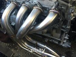1320 Performance Megaphone Race header Side exit widebody b16 b18 b18c1 b18c