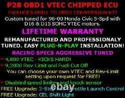 1996-2000 Honda Civic P28 Performance Chipped Tuned D16 D15 ECU