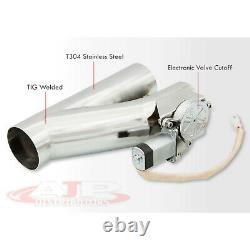 2.5 63mm Remote Electric Exhaust Catback Downpipe Cutout Cut Out Valve System