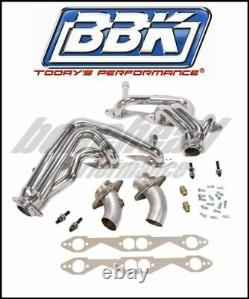 BBK Performance 1595 Chrome Plated Shorty Headers 1994-1996 Chevy Impala SS LT1