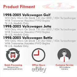 Cast Iron T3 Turbo Exhaust Manifold For 1998-2005 Volkswagen Golf Jetta MK4 1.8T