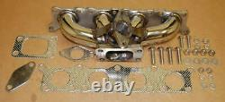 FOR VW Golf 1.8t T3 Audi Turbo Stainless Manifold Header Performance Strong