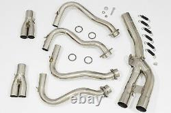 FZ8 Exhaust Race Headers Front Down Pipes Performance Upgrade