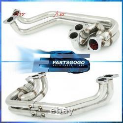 For 02-07 Subaru WRX STI EJ20 EJ25 Stainless Exhaust Header Manifold + Up-Pipe