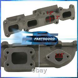 For 03-05 Dodge Neon SRT4 2.4 Cast Iron T3 T4 Turbo Manifold Headers Exhaust Kit