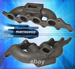 For 03-07 Ford Focus / 04-06 Mazda 3 T3/T4 Flange Cast Iron Turbo Manifold Set