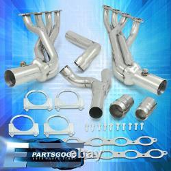 For 14-18 Chevy Silverado Sierra 5.3L 6.2L Steel Exhaust Tri-Y Long Tube Headers