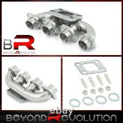 For 2001-2010 Suzuki GSX-R GSXR1000 T3/T4 Stainless Steel Turbo Manifold Exhaust