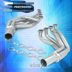 For 79-93 Fox Body Mustang 4.8 5.3 LS Swap Racing Exhaust Long Tube Header Steel