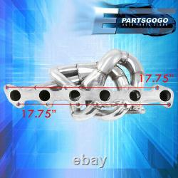 For 86-91 Bmw E30 E34 24V 6Cyl Performance T3T4 Steel Turbo Exhaust Manifold Kit