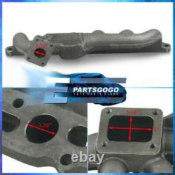 For 86-92 Toyota Supra MKIII MA70 7M-GTE Cast Iron Performance T4 Turbo Manifold