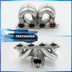 For 88-00 Honda Civic Performance Stainless Steel T3/T4 Turbo Manifold D-Series