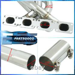 For 89-91 BMW E30 Racing Performance Racing Stainless Exhaust Header Manifold