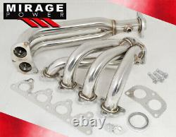 For 96-00 Honda Civic Dx/Lx/Ex D15/D16 Sohc Stainless Steel Exhaust Header Jdm