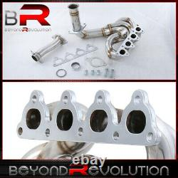 For Civic CRX Del Sol D-Series SOHC Stainless Steel Exhaust Pipe Header Manifold