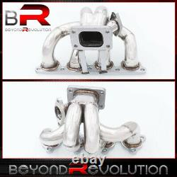 For Civic Del Sol D15 D16 Sohc T3/T4 Stainless Turbo Manifold T3 Flange 38mm Wg