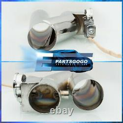 For Dodge 3 Eletric Exhaust Header Pipe Cutout Flange + Wireless Remote Switch