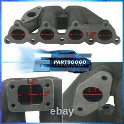 For Honda T25 D-Series D15 D16 Iron Cast Turbo Exhaust Manifold High Performance