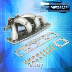 For Mazda 1.8L FP 2.0L FS Stainless Steel T2 T25 T28 Turbo Exhaust Manifold Kit