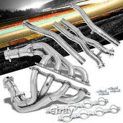 Manzo USA Exhaust Header Manifold & X-Pipe For 97-04 Corvette C5 5.7L LS1/LS6 V8