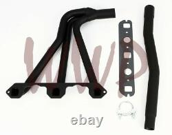Performance Black Coated Exhaust Header Manifold 62-80 MG MGB 1.8L 4-Cylinder