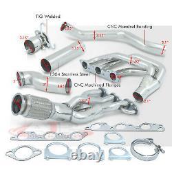 S/S Header Manifold with Downpipe For Buick Regal / Grand Prix / Impala L67 3.8 V6