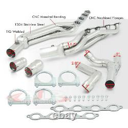 Stainless Exhaust Manifold Header +Y-Pipe For 2014-2018 Silverado Sierra 5.3 6.2