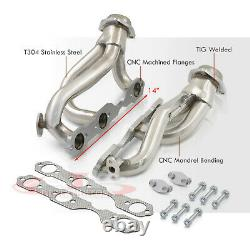 Stainless Exhaust Shorty Headers Kit For 1996-2001 Chevy S10 Blazer Jimmy 4.3 V6