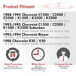 Stainless Exhaust Tubular Header Kit For 1988-1997 Chevy GMT400 SBC 5.0L 5.7L V8