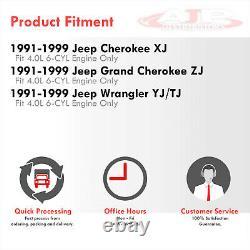 Stainless Long Tube Headers Exhaust For 1991-1999 Jeep Cherokee Wrangler TJ 4.0L