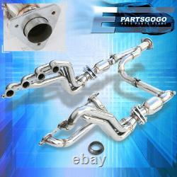 Stainless Racing Manifold Header + Y-Pipe For Gmc Yukon Sierra Chevy Suburban
