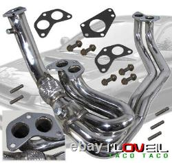 Stainless Steel 4-1 Exhaust Header Manifold For 2002-2007 Subaru Impreza N/A