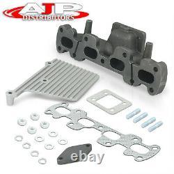T25 T28 Cast Iron Exhaust Turbo Manifold Header For 1994-1905 Miata MX5 1.8 DOHC