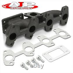 T3/T4 Turbo Flange Cast Iron Exhaust Header Manifold For Chevy S10 Cavalier 2.2L