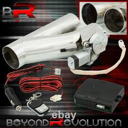 Universal 2.5 63mm Dual Exhaust Y-Pipe Header S/S Down Pipe DIY Electric Cutout