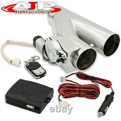 Universal 3 76mm Electric Catback Exhaust Flange Cut Out Piping +Remote Control