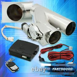Universal 76mm 3 DIY Electric Turbo Exhaust Catback Down Pipe Cut Out Assembly